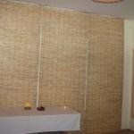 Бамбукова рогозка на стената